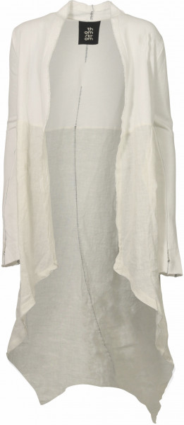 Women's Thom Krom Cotton/Linen Long Coat Offwhite