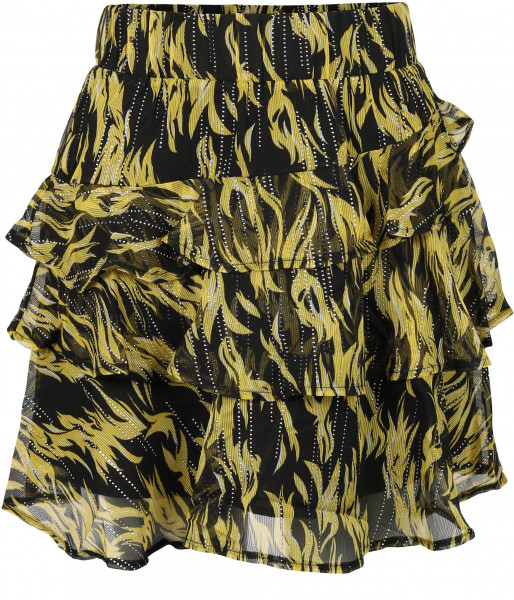 Women's Nikkie Ruffle Skirt Lemon/Black