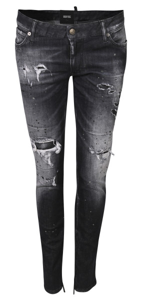 Women´s Dsquared Medium Waist Skinny Black Washed