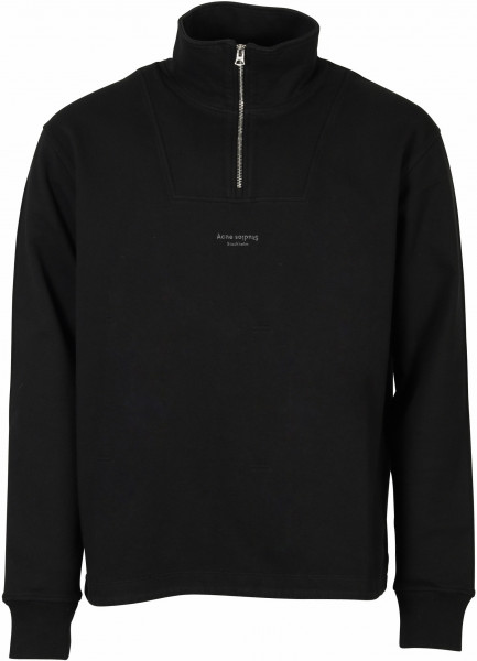 Men's Acne Studios Zip Sweatshirt Faraz Black
