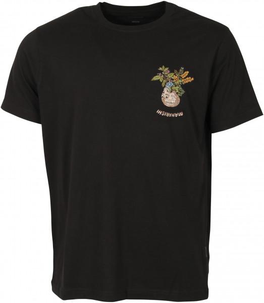 Men's Maharishi T-Shirt Embroidery Black
