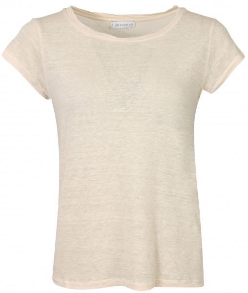 Women's Fine Edge Crew Neck T-Shirt Blush Pink