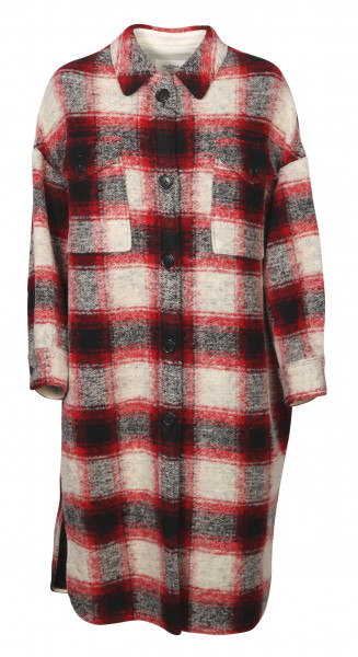 Women's Isabel Marant Étoile Check Coat Gabrion Red