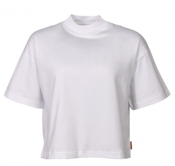 Women's Acne Studios Cropped Turtle Neck T-Shirt Emirka White
