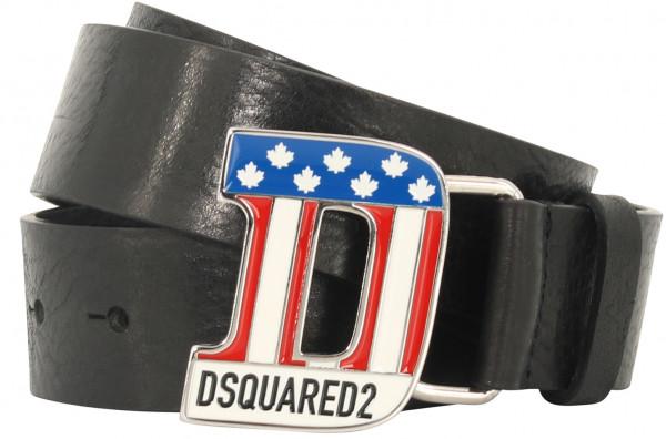 Men's Dsquared Belt Cowhide Black