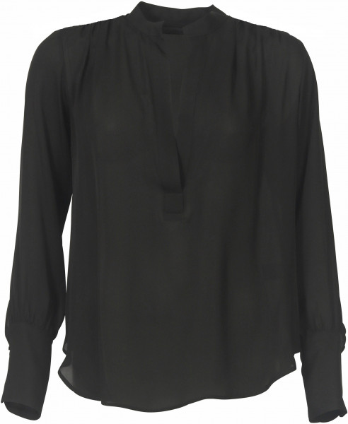 Women's Nili Lotan Silk Blouse Colette Black