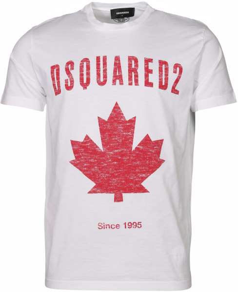 Men's Dsquared T-Shirt White Printed