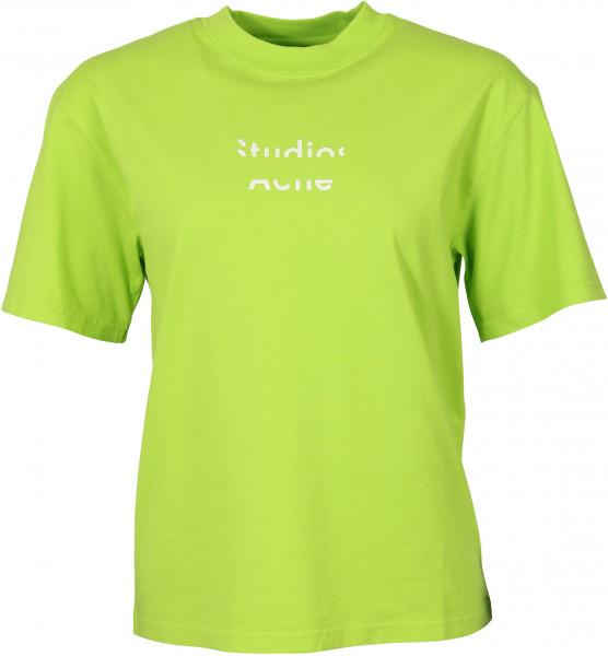 Women's Acne Studios T-Shirt Elyssia Logo Neon Yellow
