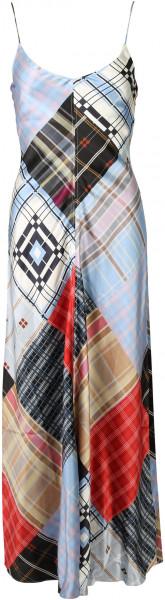 Women's Ganni Silk Slip Dress Multicolour