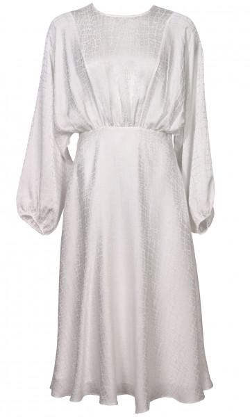 Women's Anine Bing Silk Dress Serena White Jaquard