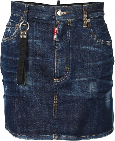 WOMEN'S D2 DSQUARED DENIMSKIRT BLUE