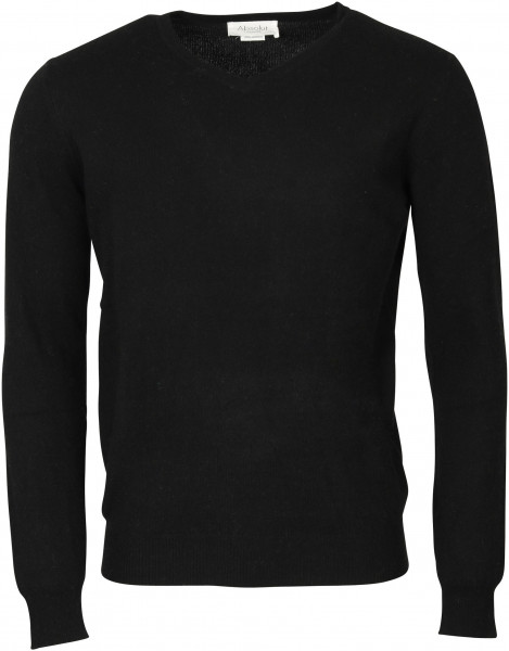 Men's Absolut Cashmere V-Neck Pullover Black