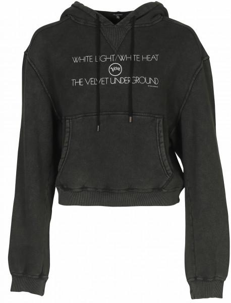 Women's R13 Hoodie Velvet Underground Washed Black