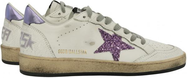 Women's Golden Goose Sneaker Ball Star White/Lavender Star