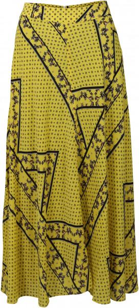 Women's Ganni Skirt Yellow Printed