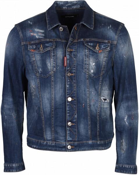 Men's Dsquared Denim Jacket Blue Washed