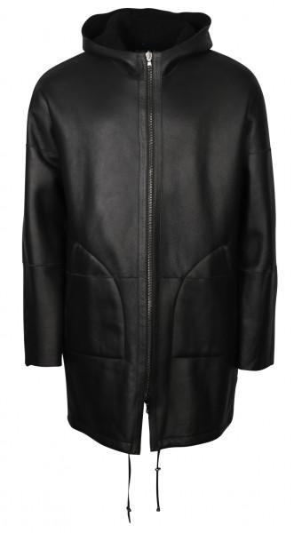Men's Giorgio Brato Shearling Leatherjacket Black