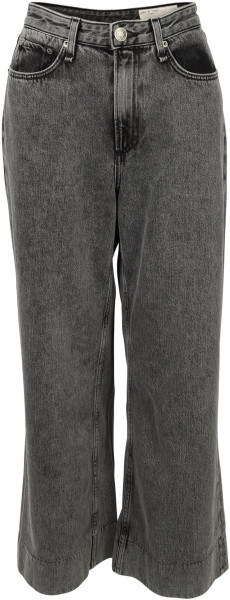 Women's Rag & Bone Highrise Wide Jeans Ruth Washed Black