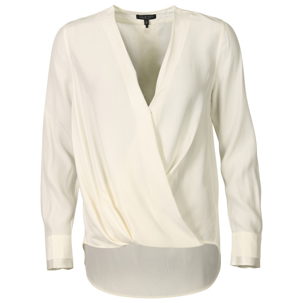 Women's Rag & Bone Silk Blouse Victor White