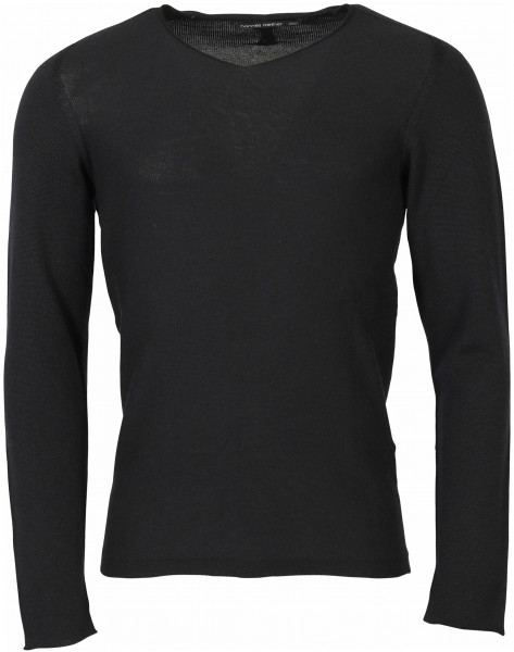 Men's Hannes Roether Knit Pullover Dark Blue/Black