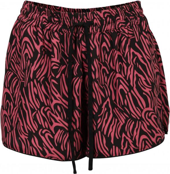 Women's Nikkie Shorts Sandy Black/Blushpink Printed