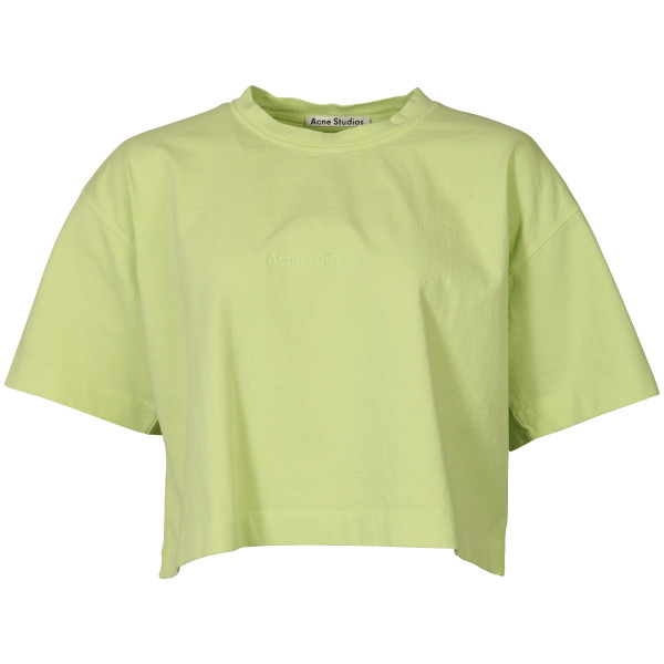 Women's Acne Studios Cropped T-Shirt Cylea lime green