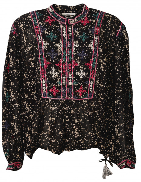 Women's Isabel Marant Étoile Tunic Ivayo Black Embroidered