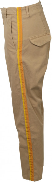 Women's Nili Lotan Pant Paris Sand/Orange Tape