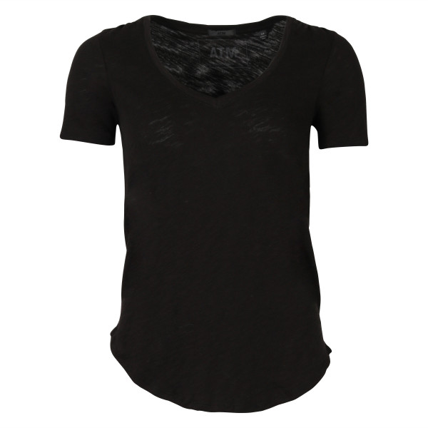 WOMEN'S ATM T-SHIRT V NECK BLACK