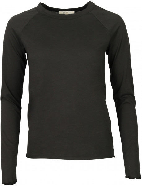 Women's Nili Lotan Longsleeve Baseball Tee Washed Black