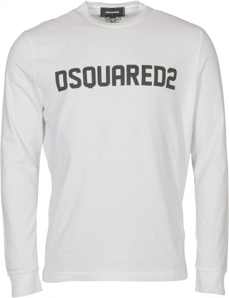 Men's Dsquared Longsleeve White Printed