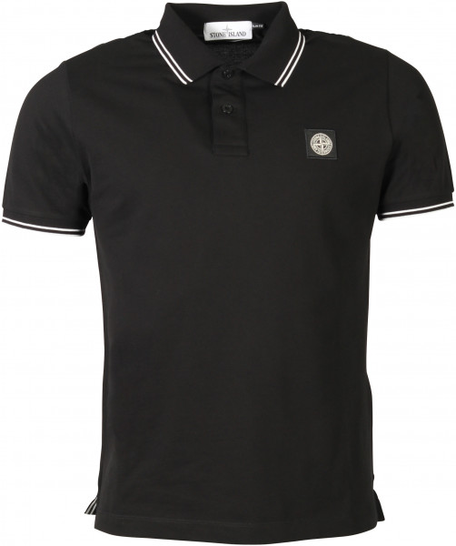 Men's Stone Island Poloshirt Black/White