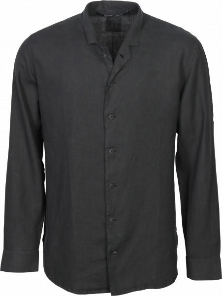 Men's Hannes Roether Linen Shirt Washed Black