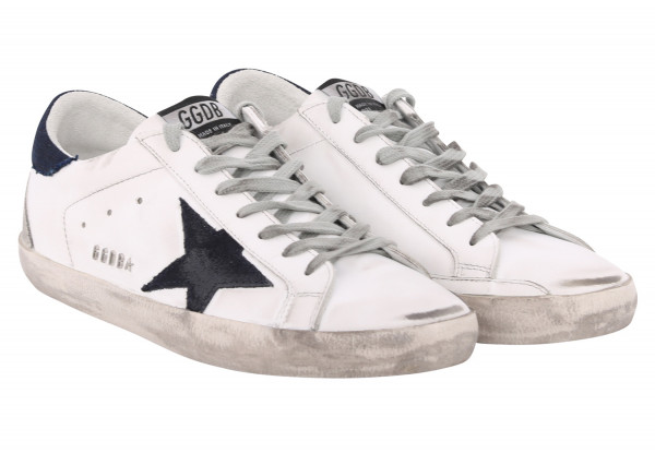 Men's Golden Goose Superstar White/Denim