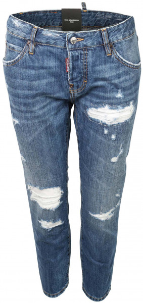 Women's Dsquared Jeans Cool Girl Cropped Washed Blue