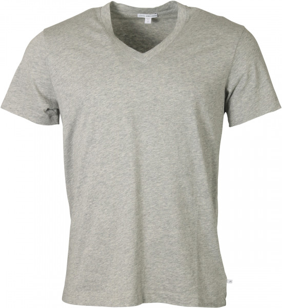 Men's James Perse T-Shirt V-Neck Heathergrey