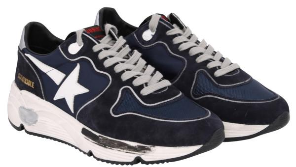 Men's Golden Goose Sneaker Running Blue White Star