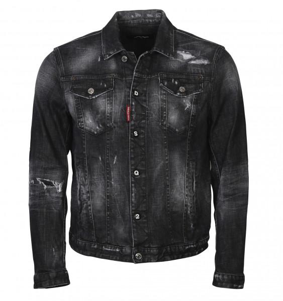 Men's Dsquared Denim Jacket Black Washed