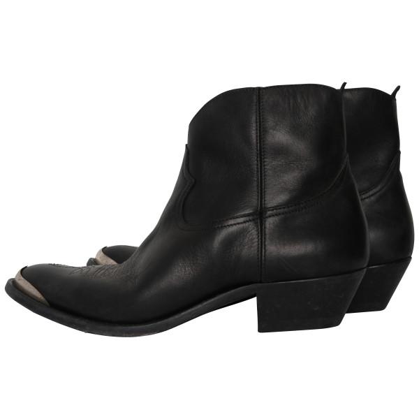 Women's Golden Goose Boots Young Glattleder schwarz