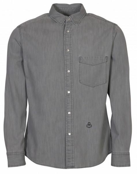 Men's Isabel Marant Denim Shirt Lako Lightgrey