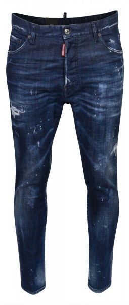 Men's Dsquared Relax Long Crotch Jeans Blue Washed