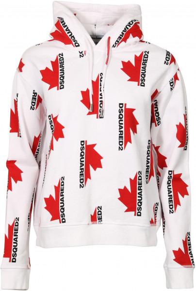 Women's Dsquared Hoodie White Printed
