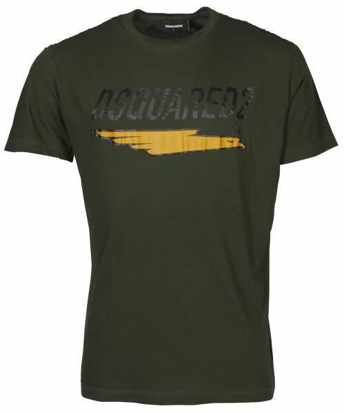 Men's Dsquared T-Shirt Green Printed