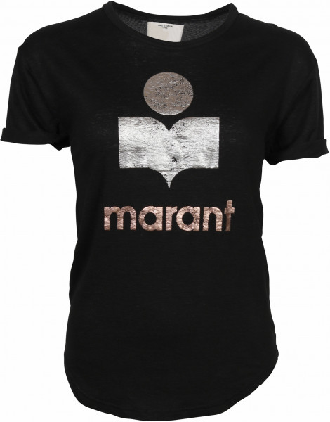 Women's Isabel Marant Etoile T-Shirt Koldi Black/Silver