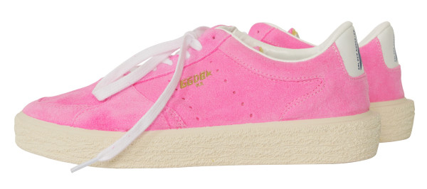 Golden Goose Women's Sneaker Tenthstar Pink Suede / White Lace G31WS715.A7