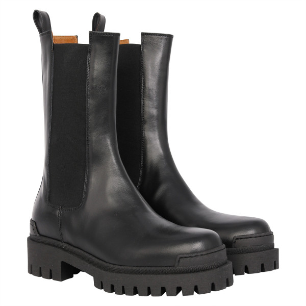 Women's Ennequadro Chelsea Combat Boots Black