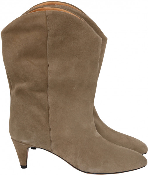 Women's Isabel Marant High Boots Dernee Taupe Suede