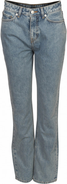 Women's Ganni High Waisted Jeans Washed Blue