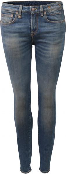 R13 Alison Skinny Jeans Emerson blau