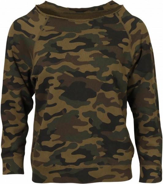 Women's Nili Lotan Sweatshirt Luka Green Camouflage